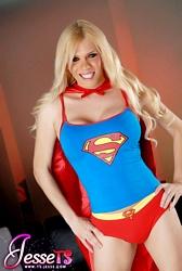 Superwoman Delicious Jesse Posing As Superwoman.