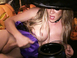 Wicked witch Excited wicked witch jerking off her juicy dick.