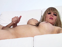 Pink candy. Busty large cock Jesse masturbating