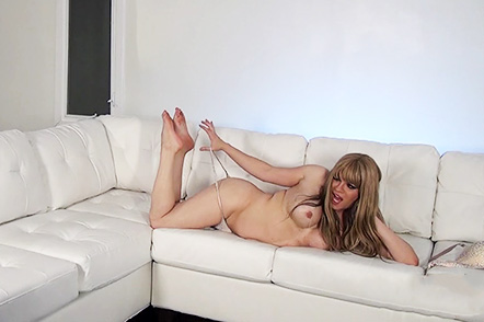 The making of beauty. Hot Jesse strips and gets it heavy