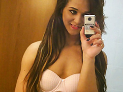 Teenager felipa lins selfie. Delicate Felipa poses, strips & plays