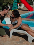 Bruna and paulo fuck and cock sucking by the pool